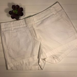 NWT J.CREW FACTORY 6 Butterfly Twill White Shorts